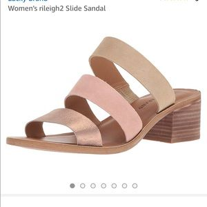 Lucky Brand rileigh2 slide sandals washed rose